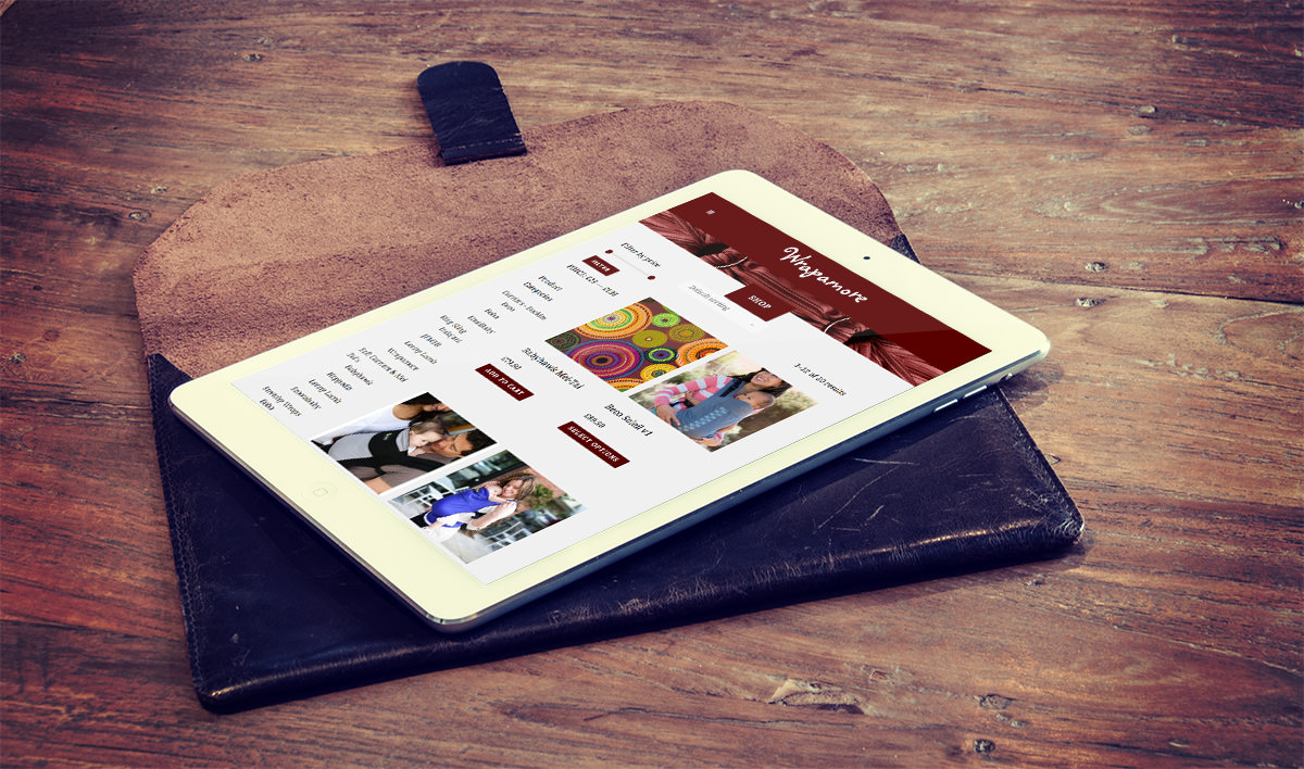 Wrapamore iPad Website Design