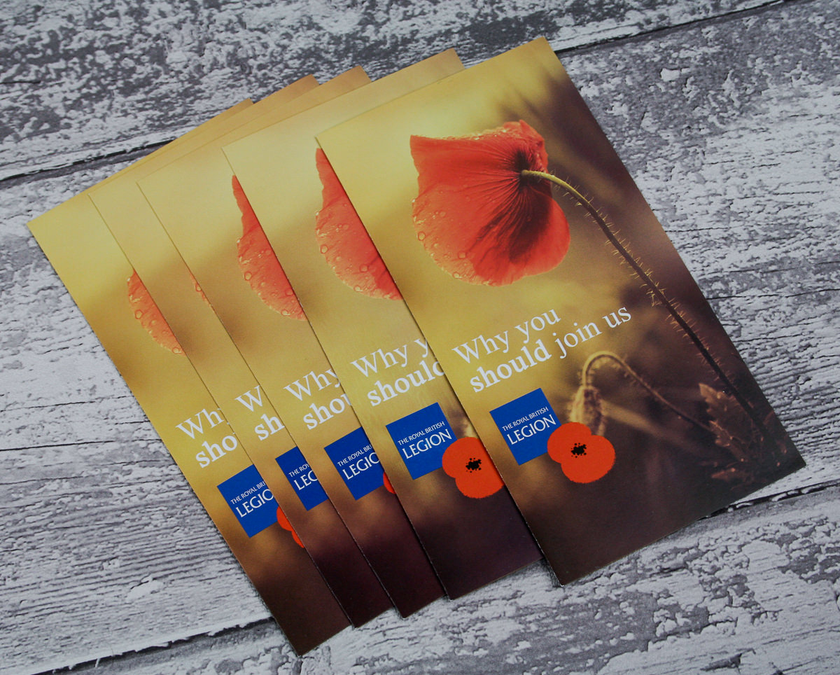 Leaflets Folded - British Legion-1
