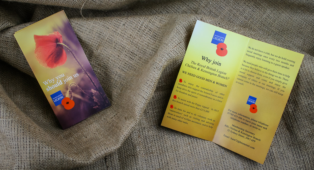 Leaflets Folded - British Legion-4