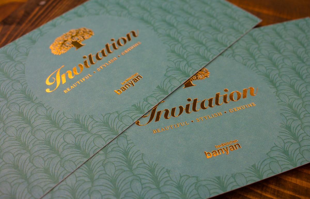 Foil Block Invitations - Banyan-1