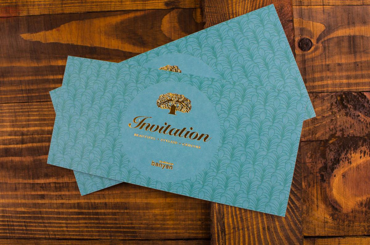 Foil Block Invitations - Banyan-9