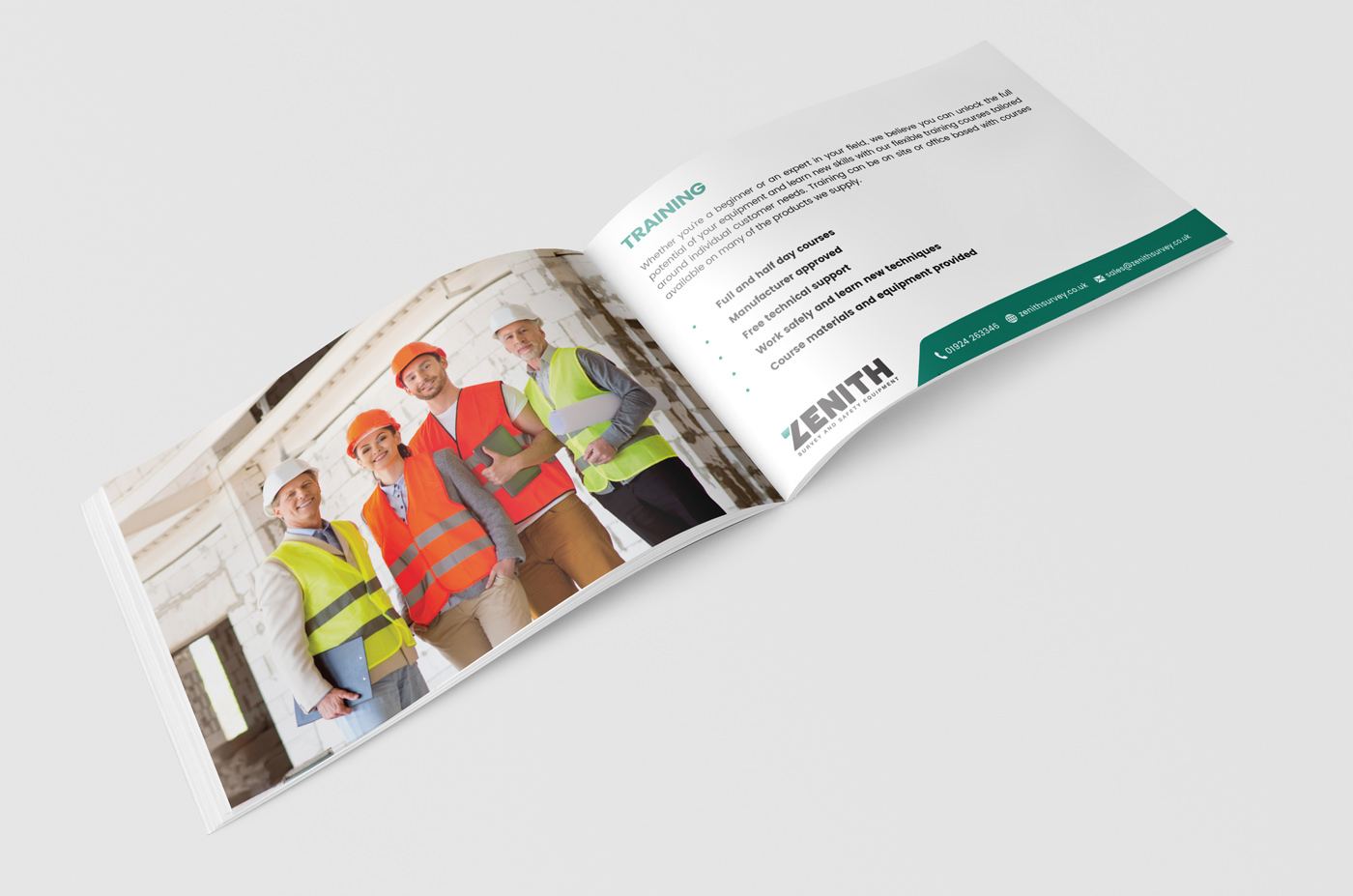 brochure design print zenith soft touch lamination spot uv