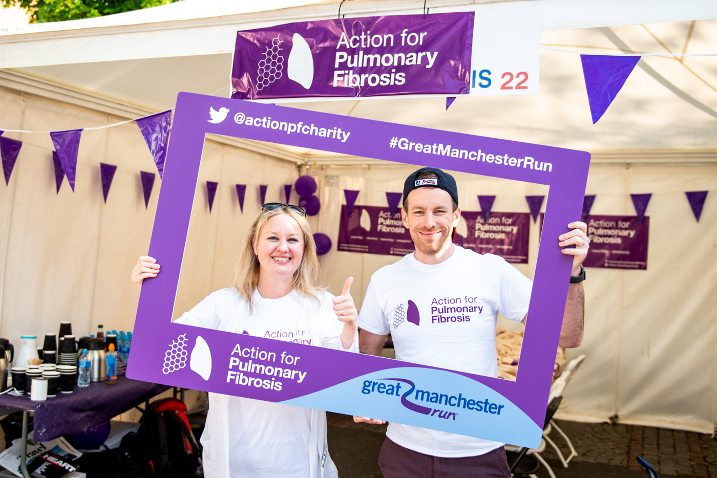 Selfie Frame Printing for Action for Pulmonary Fibrosis Charity