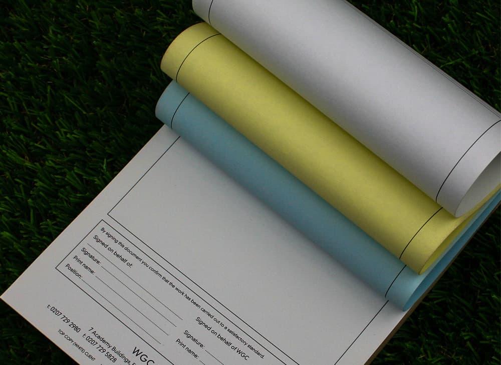 NCR Triplicate & Duplicate Invoice & Receipt Pad Printing