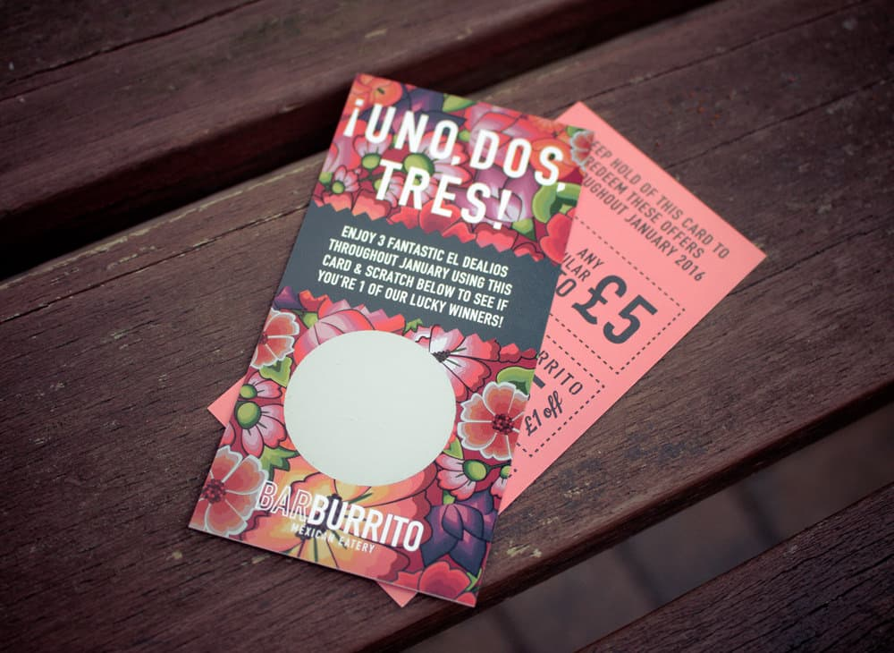 Printed Scratch Cards for Restaurants