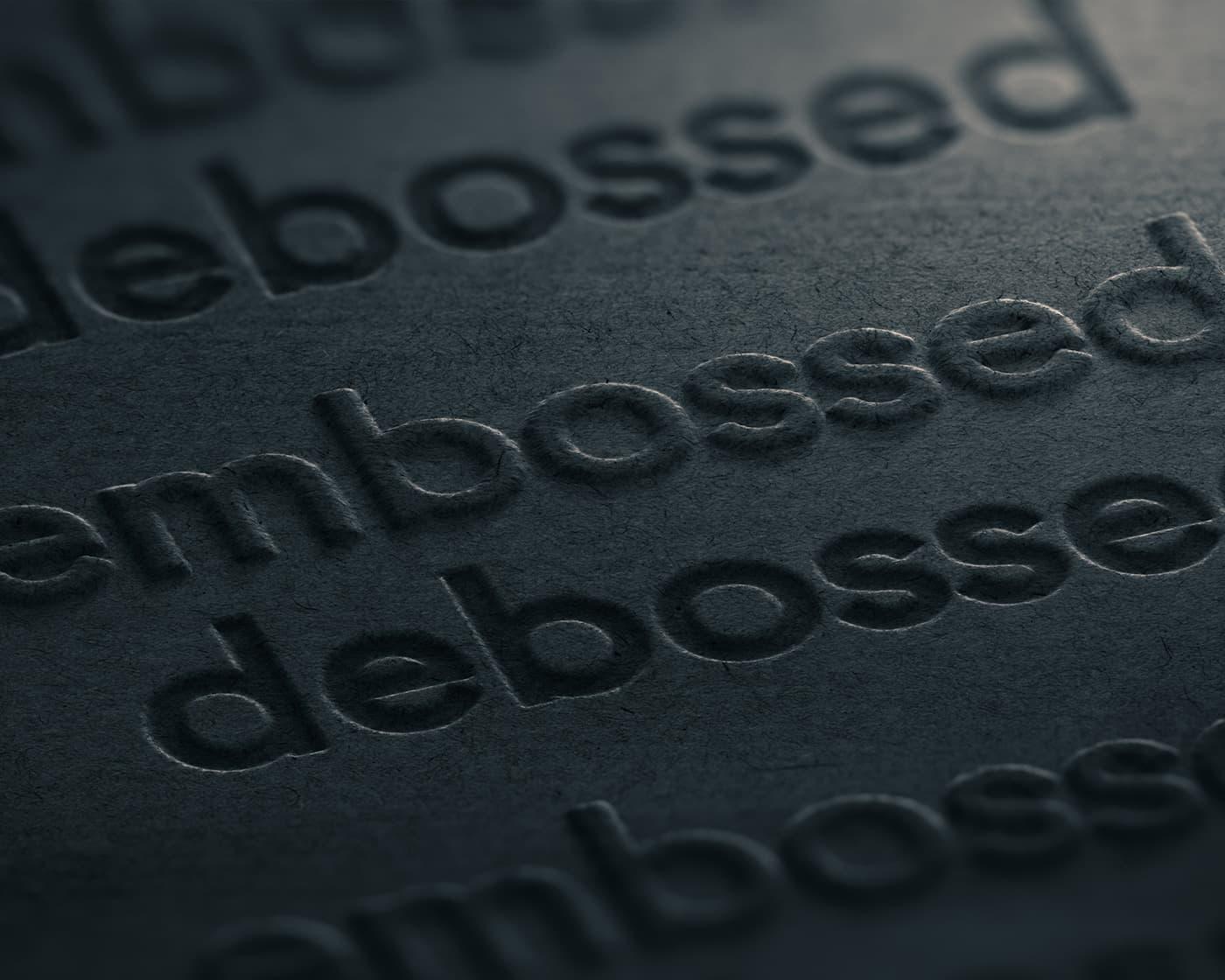 debossed-print