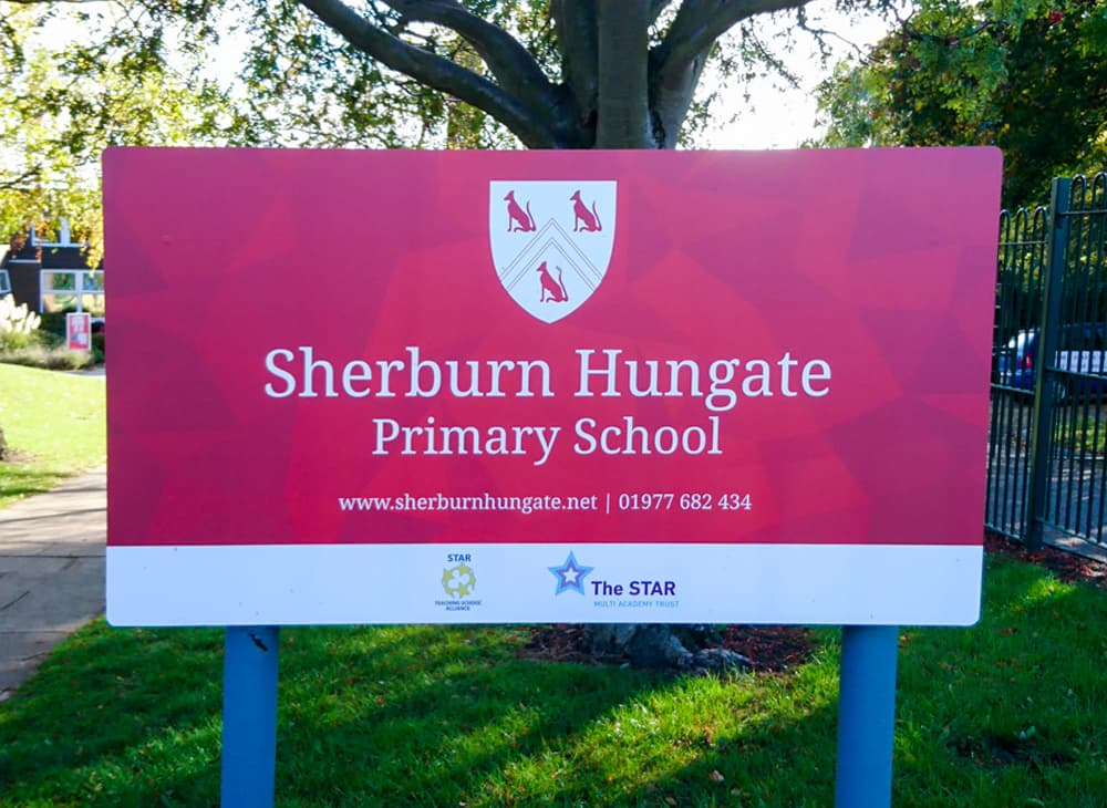Signage – Sherburn Primary School