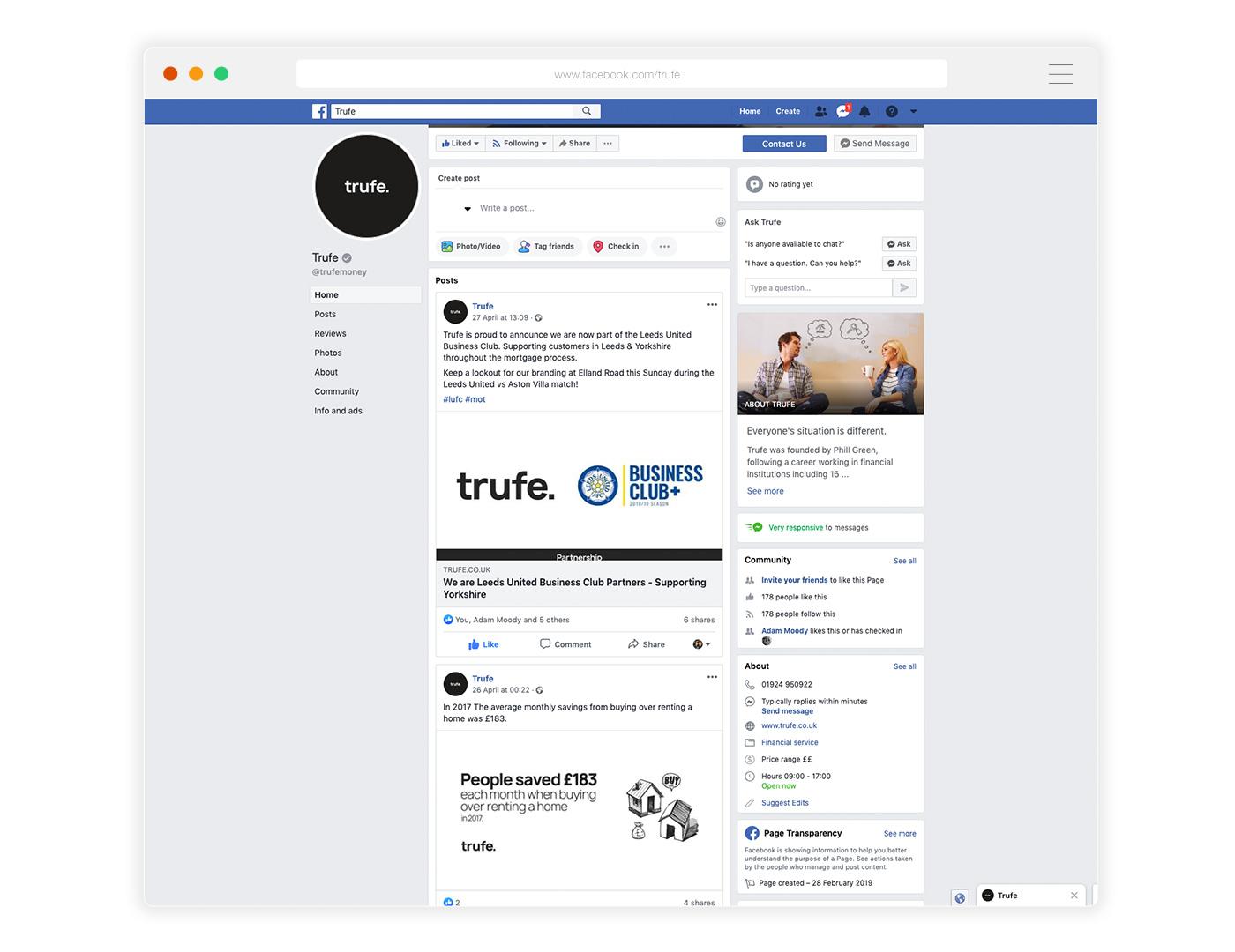 Facebook Social Media Marketing Example